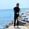 24K Gold / Black Wetsuit | 2 Piece Set | John & Jacket | PWC Jet Ski Ride & Race