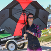 Ladies Cut Hoodie Rashguard Stripe - PWC Jetski Ride & Race Apparel