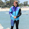 Hyper Tour Coat Purple / Teal | Oversized Neoprene Jacket | PWC Jet Ski Gear