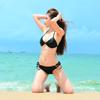 Neo Triangle Bikini 2pc Set   Black Neoprene   PWC Jetski Swimwear