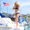 Neo Triangle Bikini Top Only | Black Neoprene | PWC Jetski Swimwear