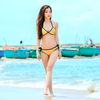 Neo Triangle Bikini 2pc Set | Gold Neoprene | PWC Jetski Swimwear