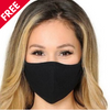 Free Face Covering Masks | 2-Pack Black Lycra Masks