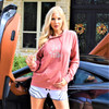 Sparkle Ladies Hoodie | Dusty Rose | PWC Jetski Ride & Race Apparel