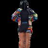 Ladies Cut Hooded Rashguard | Skittles | Zipper Front | (Photography Sample)