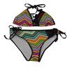 Aztec Triangle Bikini 2pc Set | Black / Multicolor | (Sample - Size Medium)
