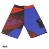 Sample - Hyper Men's Board Shorts | Blue/Red/ Black | (Photography Sample - Size 32)