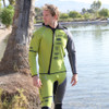 Sample Size Large - Team Rider Hybrid Jacket | Green | Hooded Jacket Only