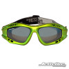 Front View- Expert Goggles: Lime Metallic Frame/Smoke including Case