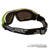Back/Side View- Expert Goggles: Lime Metallic Frame/Smoke including Case