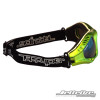 Side View- Expert Goggles: Lime Metallic Frame/Smoke including Case