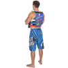Shockwave Board Shorts Blue PWC Jetski Ride & Race Apparel