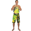Shattered Men's Board Shorts Yellow PWC Jetski Ride & Race Apparel