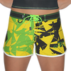 Shattered Ladies Board Shorts | Yellow Green | Closeout