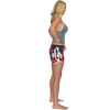 Shattered Ladies Board Shorts Red PWC Jetski Ride & Race Apparel