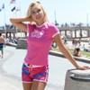 Ripped Ladies Board Shorts Pink PWC Jetski Apparel (Clearance)