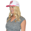 Icon  Hat White/Pink PWC Jetski Ride & Race Accessories