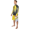 Longsleeve Classic Rashguard - Yellow PWC Jetski Ride & Race Apparel