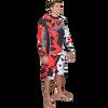 Longsleeve Shattered Rashguard - Red PWC Jetski Ride & Race Apparel