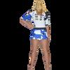 Trophy Girl Dress Shattered Blue PWC Jetski Ride & Race Apparel