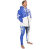 Tour Coat Spike Blue / White | Oversized Neoprene Jacket | PWC Jetski Ride & Race Gear