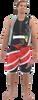 Jazz Men's Board Shorts Red PWC Jetski Ride & Race Apparel