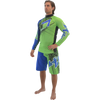 Rashguard Spike - Blue/Green PWC Jetski (Small only -Clearance)