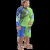 Rashguard Spike - Blue/Green PWC Jetski (Clearance)
