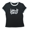 Block Ringer Tee - Black/ White PWC Jetski Ride & Race Apparel