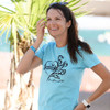 Romance Tee - Pacific Blue PWC Jetski Ride & Race Apparel