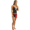 Spike Ladies Shorts - Red / Black PWC Jetski Apparel (Clearance)