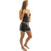 Spike Ladies Shorts - Black / White PWC Jetski Apparel (Clearance)