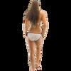 Morocco Bikini Tie Bottom Only - Black/White PWC Jetski Swimwear