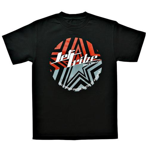 Split Star T-Shirt Black PWC Jetski Ride & Race Apparel