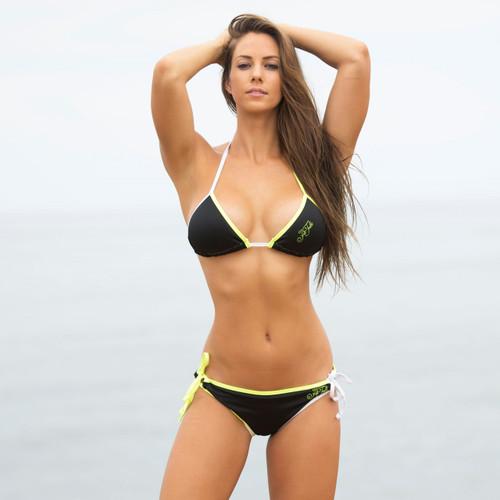 Mission Bay Triangle Bikini 2pc Set - Neon Yellow/Green (Small Only)