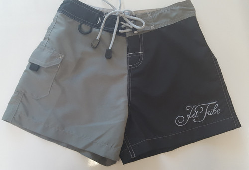 Little Girls Two Tone Shorts - Black / Grey PWC (Closeout)