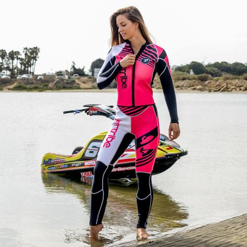 Newport Ladies Wetsuit - Pink PWC Jet Ski Ride & Race