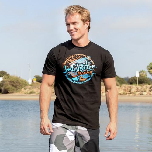 Crosshatch T-Shirt - Black PWC Jetski Ride & Race Apparel