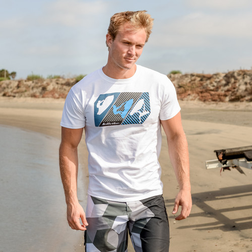 Linear T-Shirt White | Stand-Up / Sit Down / Freestyle Riders | PWC Jetski Apparel
