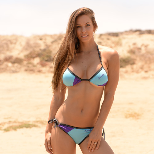 Candy Triangle Bikini Purple 2pc Set - PWC Jetski Swimwear