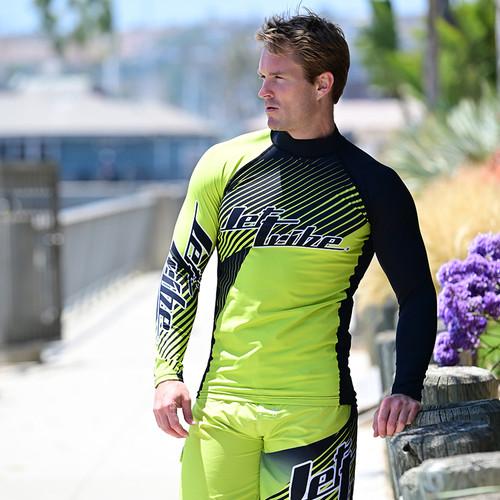 Hyper Rashguard Long Sleeve Shirt | Green | UV Protection Swim Shirt (Pre-Order)