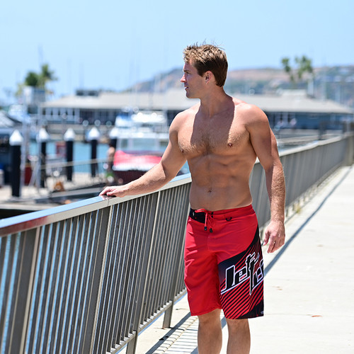 Hyper Men's Board Shorts - Red PWC Jetski Ride & Race Apparel