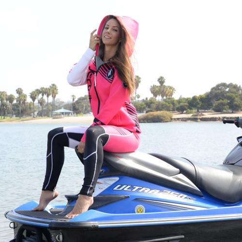 *Factory Second* Ladies Tour Coat Newport Pink  | Neoprene Jacket | PWC Jetski Ride & Race
