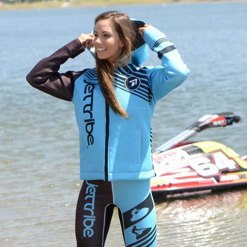*Factory Second* Ladies Tour Coat Newport Teal | Neoprene Jacket | PWC Jetski Ride & Race