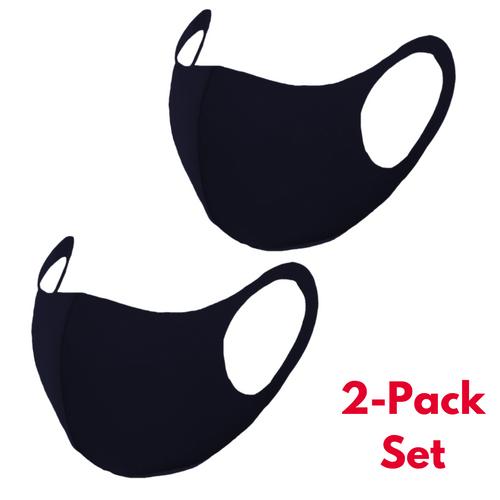 Face Covering Masks | Purchase Multiple Sets & Colors | 2-Pack Lycra Masks