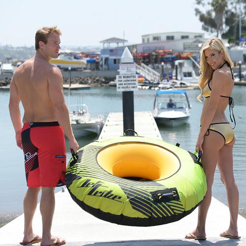 Donut Towable | 1 Person | Hyper Green | Inflatable Tube PWC Jetski