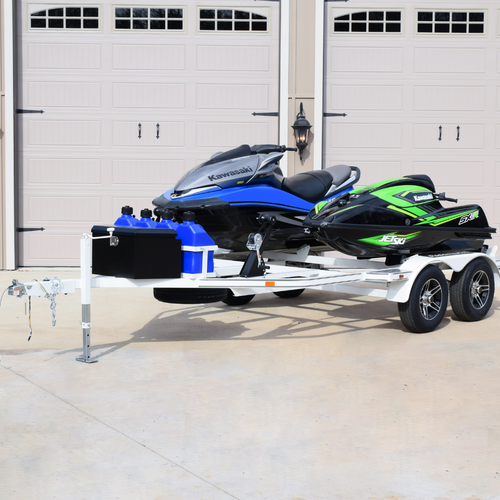 2 Place   JTR Personal Watercraft PWC Trailer   Sitdown / Stand-Up   American Steel