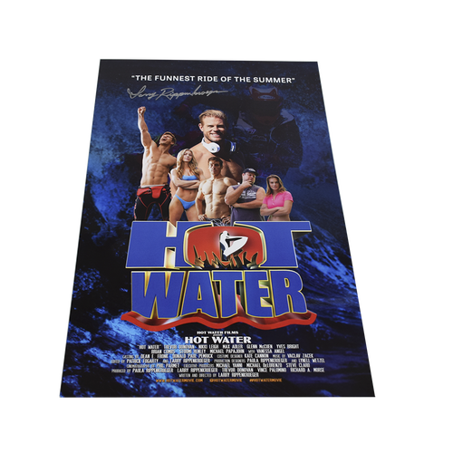 Director Signed Hot Water: The Movie Poster | Larry Rippenkroeger | Official Merchandise