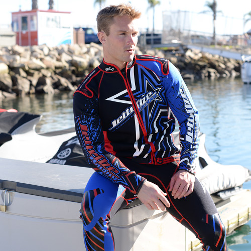 Shockwave Red / Blue Wetsuit (Closeout) PWC Jet Ski Ride & Race Freerider
