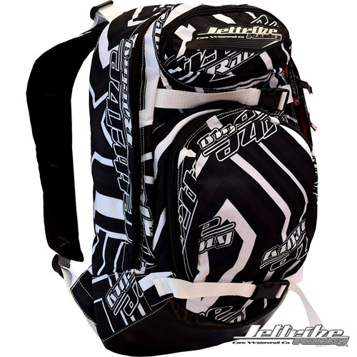 Shockwave Travel Backpack White PWC Jetski Ride & Race Gear